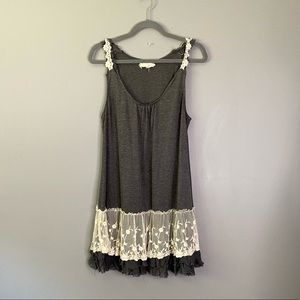 ANTHRO A'REVE | Slip Dress with Lace Hem D97